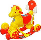 #6: Ehomekart Kid's Funride Murphy Super Musical Baby Horse 2-in-1 Rocker and Ride-on with Backrest