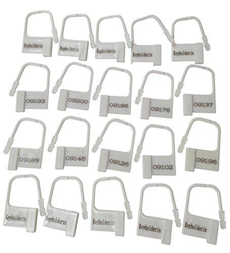20x Kunststoff Vorhängeschlösser für perfekte Kontrolle thumbnail