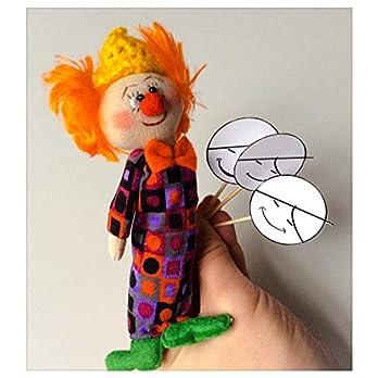 Fingerpuppe Clown