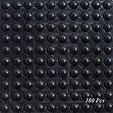 Cuscinetti per piedi in gomma SAIYU 100 pezzi Adesivo per paraurti Cuscino per paraurti in silicone (100 pezzi, 9 mm x 3 mm, nero, forma emisferica)