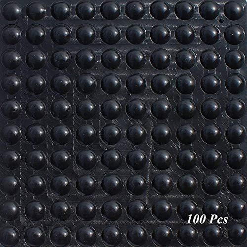 SAIYU Gummifüße Pads 100 Stück Kleber Bumper Pad Silikon Bumper Foot Protector Pad (100 Stück, 9 mm x 3 mm, Schwarz, Halbkugelform)