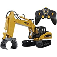 16 Channel Full Functional RC Excavator, ECLEAR 2.4Ghz Remote Control Construction Tractor Bulldozer Truck Toy Gift for Boy Girl Kids Preschooler Entertainment - Compare prices on radiocontrollers.eu