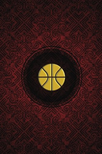 Monogram Basketball Journal: Blank Notebook Diary Log: Volume 52 (Monogram Crimson 365 Lined)
