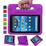 NEWSTYLE Fire 7 2015 Tablet Hülle Eva Stoßfeste Schutzhülle Tragbar für Kinder mit Ständer Schutzhülle Standfunktion für Amazon Fire 7.0 Zoll (5. Generation - 2015 Modell) Tablet,- Lila