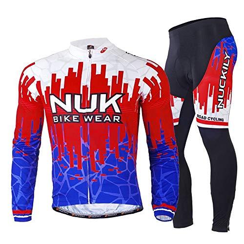 YHLU Männer es Fahrrad-Lang 3D Gel Pad Pants Bike MTB Bike Radweg-Kleidung,ME017,XXL