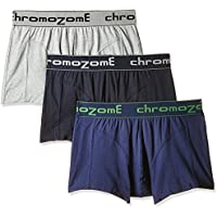 Chromozome Men's Cotton Boxer (Pack of 3) (8902733343299_BC04_Nvyinkgry_M)