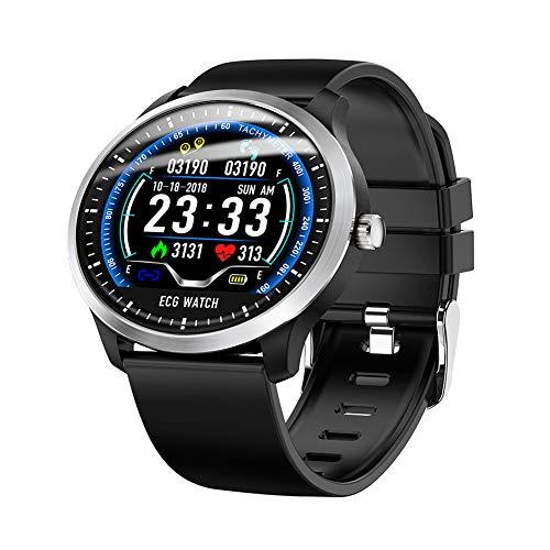 COLOM Elegante reloj de para las Mujeres para Android Impermeable,Pulso Y EL seguimiento de la actividad,Monitoreo del sueño Contador de calorías Con Podómetro para los Hombres de las Mujeres-Negro