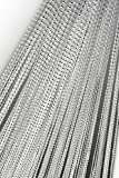 Tenda a fili con finitura in Lurex, 90x 250cm o 140x 250cm, colore a scelta, per porta, Tessuto, bianco, 140 x 250 cm