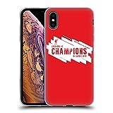 Head Case Designs Officiel Liverpool Football Club Europe Six Fois 4 2019 Champions Coque en Gel Doux Compatible avec iPhone XS Max