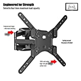 """Invision Double Arm TV Wall Bracket Mount - For 24"""" – 55"""" LED LCD Plasma & Curved Screens - Tilt Swivel - Includes 1080p HDMI Cable *Please Check TV VESA Mounting Holes Before Purchase* (HDTV-DL)"""