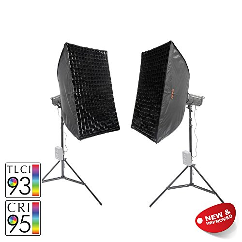 Cheapest PIXAPRO® LED100D MKII+ Twin Kit With Softbox Daylight LED Continuous Studio Video Interview Film Light Bowens S-Type Fit Remote Dimmable Video Continuous Constant Light Green Screen Film Marketing Movie Lighting Still Life Portrait (Improved Colour) CRI>94 *2 Year UK Warranty *Fast Delivery *UK Stock *VAT Registered … (Twin Kit, With Softbox) Online