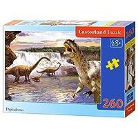 Castorland CSB26999 Classic Diplodocus Jigsaw Puzzle, 260 Pieces Set, Multicolour