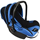 Notty Ride Baby Car Seat Cum Carry Cot With Canopy(Blue)