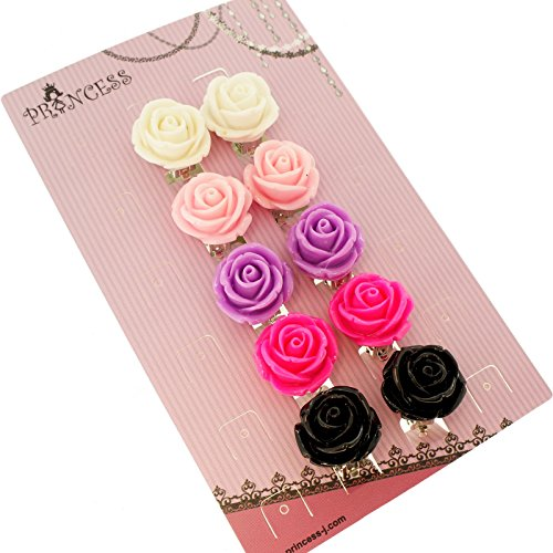 big-size-19mm-color-rose-flower-design-fashion-clip-on-earrings-pack-of-5-pairs