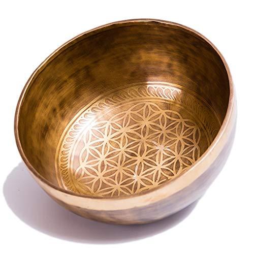 Blume des Lebens Handgefertigte Buddha Klangschale Tibetische Klangschale Klangtherapie Yoga Meditation Bowl Dekoration ( Size : 15cm )