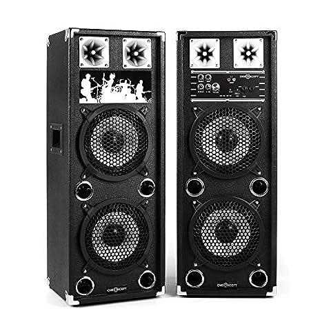 oneConcept BSX-28A • aktives Lautsprechersystem • PA Lautsprecher Paar •