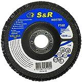 S&R Fächerschleifscheibe 125x22,2 T29, (Körnung 40). Set 5 Stück für Schleifen von Stahl und Holz. Set für Winkelschleifer.