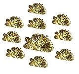 Unbekannt 10 Stück Kerzenhalter Weihnachtbaum Gold Weihnachstdeko KA (1)
