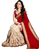 #9: saree(white world women's clothing saree for women latest design wear saree collection in multi color latest saree with blouse free size beautiful saree for women party wear offer saree with blouse piece.)