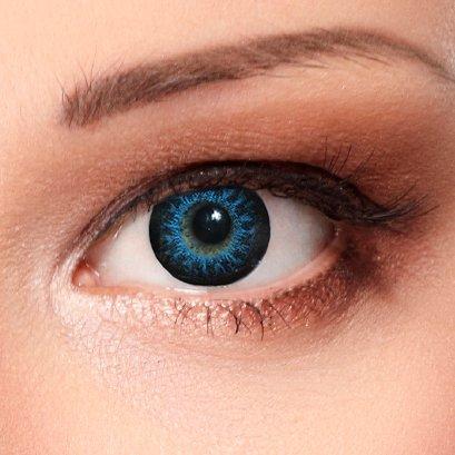 Designlenses© Blaue farbige Kontaktlinsen/ colored lenses ohne Stärke Design: High intensive Blue