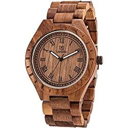So Cool Men's Wooded Quartz Watch With 100% Walnut wood