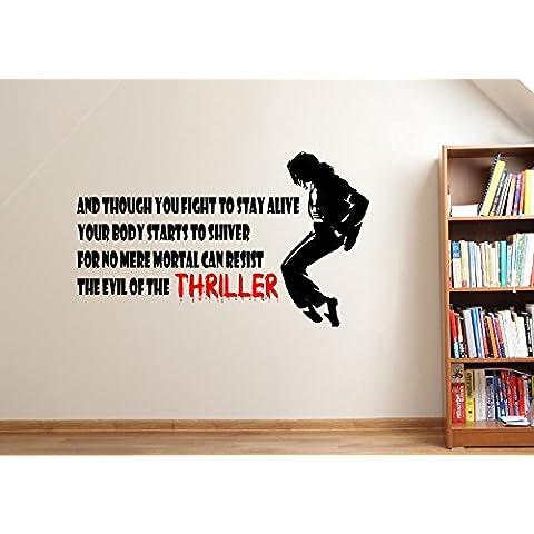 MICHAEL JACKSON (Thriller), testo della canzone AllLife-Adesivo da parete con **, **16 colori, sl6, Large 80 x 50 cm