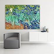 HODE79- Quadro Artistico su Tela di Alta Risoluzione- Vincent Van Gogh- Iris- Irissen- Fiori (80_x_60_cm)