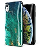 GVIEWIN Marble iPhone XR Case, Ultra Slim Thin Glossy Soft