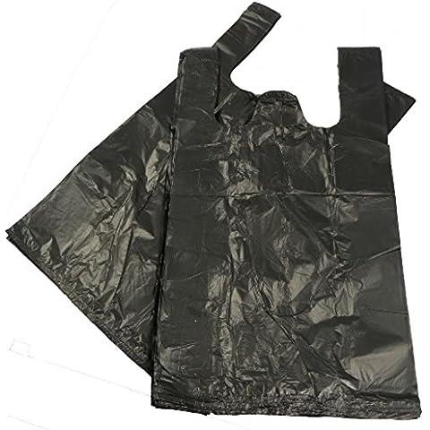 5000–Sacchetti in polietilene, in plastica, colore: nero, taglia 27,9x 43,2x 53,3cm regalo per la spesa Boutique Supermarket Cash N Carry Market Stall polybags