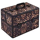 Alu Kosmetikkoffer Schminkkoffer Beauty Case Multikoffer FriseurkofferSchmuck Farbwahl (Leopard) (Leopard)
