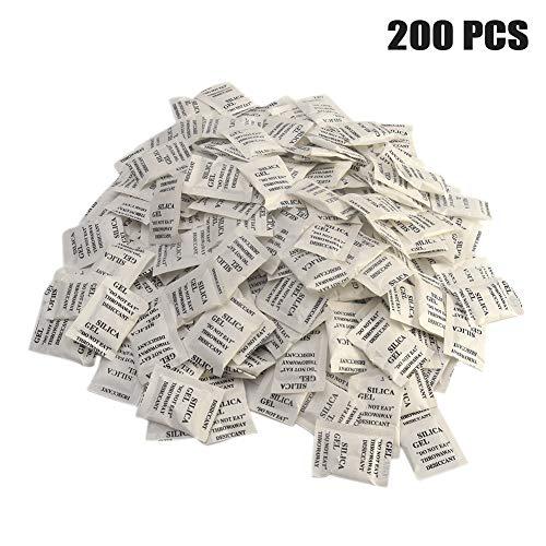 200pcs Bolsas gel sílice Bolsas desecantes-Paquete