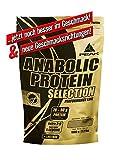 PEAK Anabolic Protein Selection Peanut-Chocolate-Chip 1000g | Premium Molkenprotein mit L-Leucin und Soja-Isolat | BCAA | Glutenfrei | Arotop Qualitätssiegel durch Qualitätskontrollen in Deutschland | Proteinshake für Bodybuilding, Kraftsport und Fitness | Eiweißpulver |