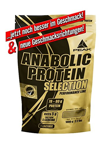 PEAK Anabolic Protein Selection Donut 1000g | Premium Molkenprotein mit L-Leucin und Soja-Isolat | BCAA | Glutenfrei | Arotop Qualitätssiegel durch Qualitätskontrollen in Deutschland | Proteinshake für Bodybuilding, Kraftsport und Fitness | Eiweißpulver |