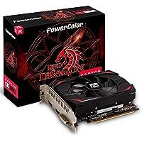 PowerColor AMD Radeon RX 550 - Tarjeta gráfica (4 GB), diseño de dragón Rojo