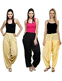 Mango People Products Combo Skin, Black & Light Yellow Of 3 Colours Womens & Girls Solid Cotton Mix Best Indian...