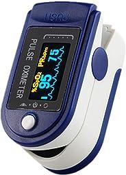 Goeco Pulsossimetro da Dito, Saturimetro Dito Professionale, Contatore di saturazione della frequenza cardiaca dell'ossigeno