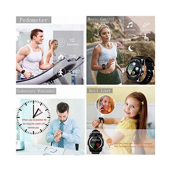 catshin SmartWatch ios android Wear con SIM Card Slot Cámara reloj Smart Watch podómetro Fitness Tracker Watch Pulsera… 2
