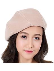 Boinas de lana femenino del otoño y del invierno del sombrero Días ( Color : C )