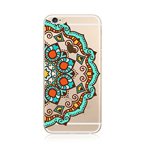 Coque iPhone 7 Housse étui-Case Transparent Liquid Crystal en TPU Silicone Clair,Protection Ultra Mince Premium,Coque Prime pour iPhone 7-Mandala-New-style 19 13