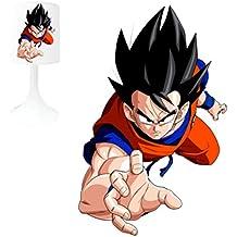 Lámpara de noche–Goku–Lámpara de mesa de creación niños–personalizable con nombre