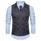 Manadlian Herren Leichte Jacke Herren Freizeitjacke Männer Formal Tweed Prüfen Doppelt Breasted WesteRetro Slim Fit Anzugjacke