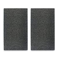 """Zeller 26255  """"Granite"""" Stove Cover/Cutting Plate, Anthracite, 30 x 52 cm, Set of 2"""