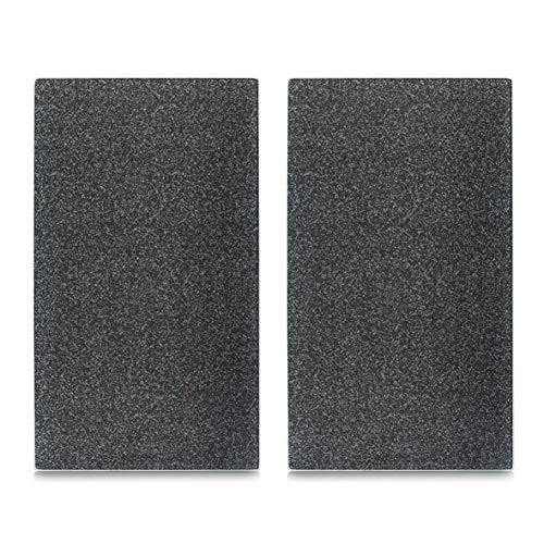 "Zeller 26255 Herdabdeck-/Schneideplatten ""Granit"", 2-er Set, Glas, anthrazit"