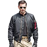 Free Soldier MA1 Pilot Jacket Tactical Military Wendemantel dicker winddicht wasserabweisend warme Jacke XL schwarz