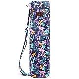 Boence Borsa da yoga,Pieno Cerniera lampo Esercizio borsa per tappetino da yoga con tela robusta,Cerniere lisce,Cinturino regolabile,Grandi tasche di memorizzazione funzionali