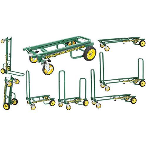 Rock-N-Roller R2RT-GR (Micro) 8-in-1 Folding Multi-Cart/Hand Truck/Dolly/Platform