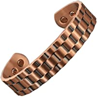 Holistic Magnets Unisex-Magnetarmreif aus Kupfer für Arthritis, Karpaltunnelsyndrom, Schmerzlinderung, Tennisarm... preisvergleich bei billige-tabletten.eu