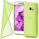 HTC 10 Hülle Silikon Transparent Grün [OneFlow Clear
