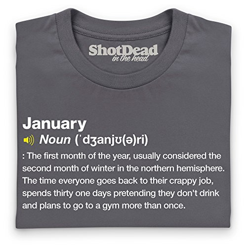 Definition of January T-Shirt, Damen Anthrazit