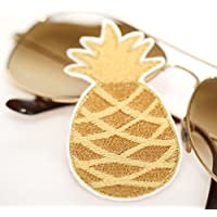 Ananas Aufnäher Patch gold